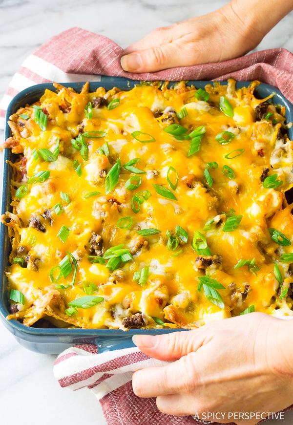 Cheesy Cool Ranch Taco Lasagna Recipe - Mexican Lasagna with huge zesty flavor!