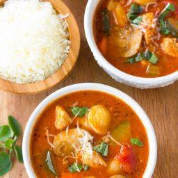 Healthy Chicken Cacciatore Soup Recipe