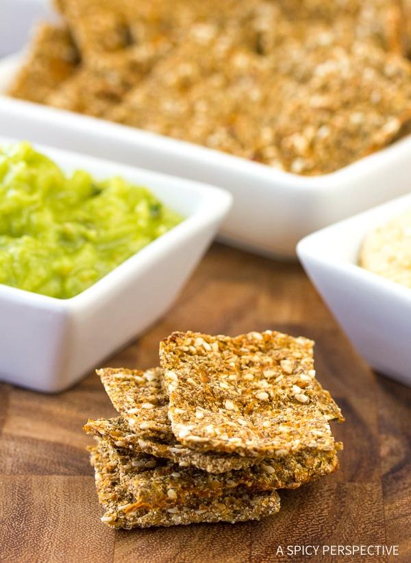 Low Carb Chips #ASpicyPerspective #GlutenFree #Vegan #Paleo #GrainFree #DairyFree #SugarFree