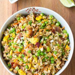 Triple Pork Fried Rice Recipe