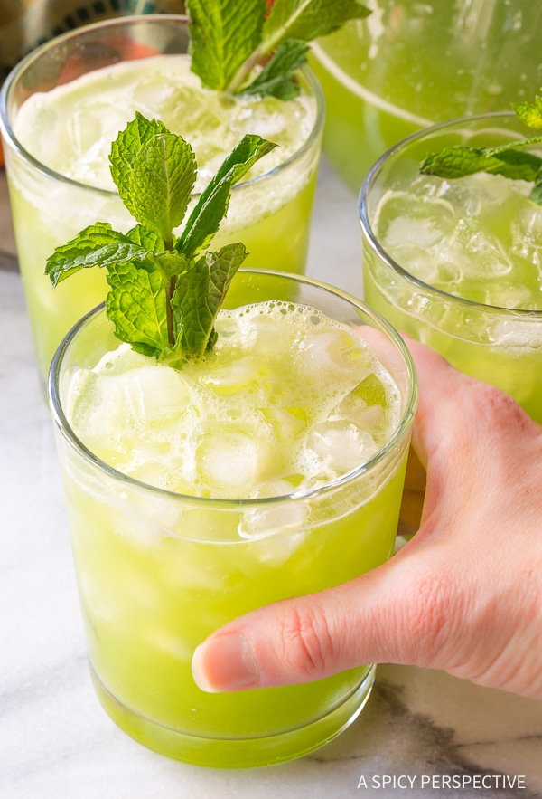 Cucumber Lime Ginger Mint Agua Fresca - Summer Mocktail Recipe