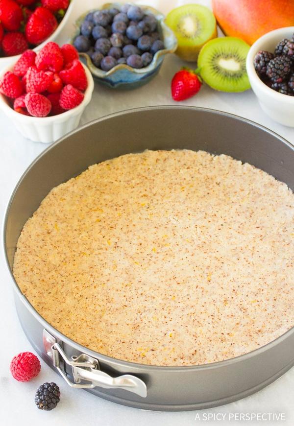 Making Gluten Free Vegan Fruit Pizza Recipe