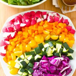 Healthy Rainbow Chopped Salad Recipe