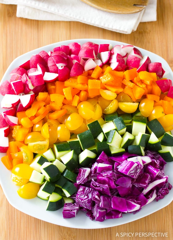 How To Make Healthy Rainbow Chopped Salad Recipe