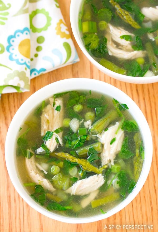 Amazing Lean Green Chicken Soup Recipe #GlutenFree #DairyFree #LowCarb & #Paleo
