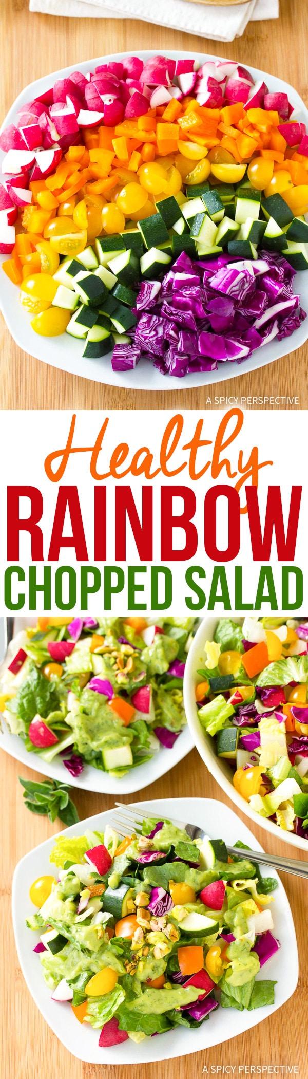 Healthy Crunchy Rainbow Chopped Salad Recipe