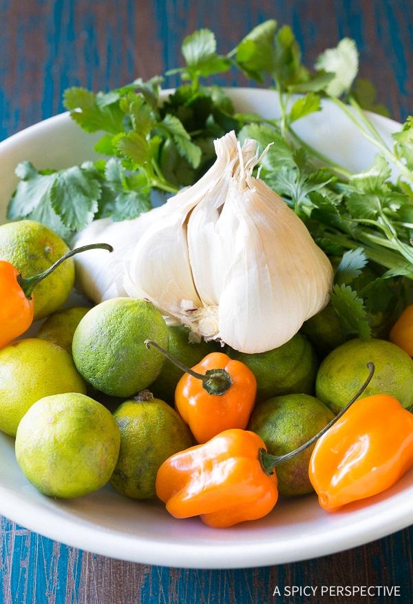 Prep - Yucatán Garlic Butter Shrimp