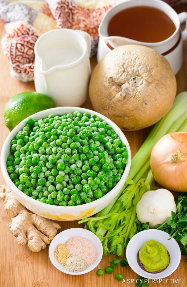 Making Spring Pea Wasabi Soup Recipe (Vegan, Gluten Free & Dairy Free!)