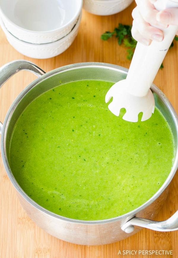 Easy Spring Pea Wasabi Soup Recipe (Vegan, Gluten Free & Dairy Free!)