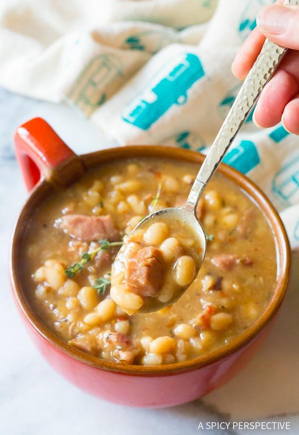 Navy Beans #ASpicyPerspective #HamAndBeanSoup #NavyBeans #HamAndBeans #NavyBeanSoup #BeanSoup #Soup