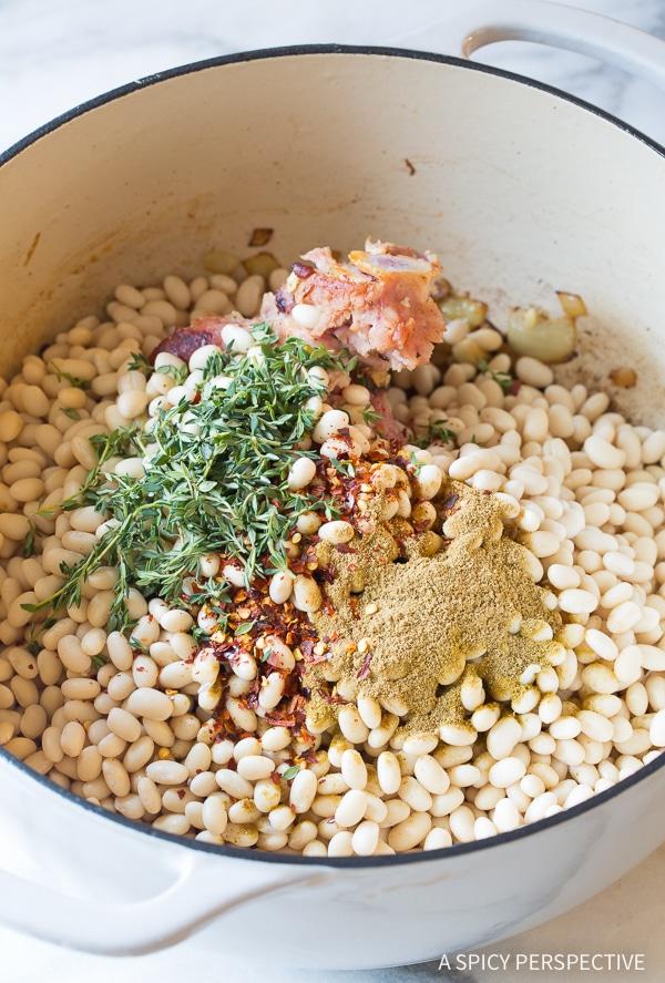 Bean Soup #ASpicyPerspective #HamAndBeanSoup #NavyBeans #HamAndBeans #NavyBeanSoup #BeanSoup #Soup
