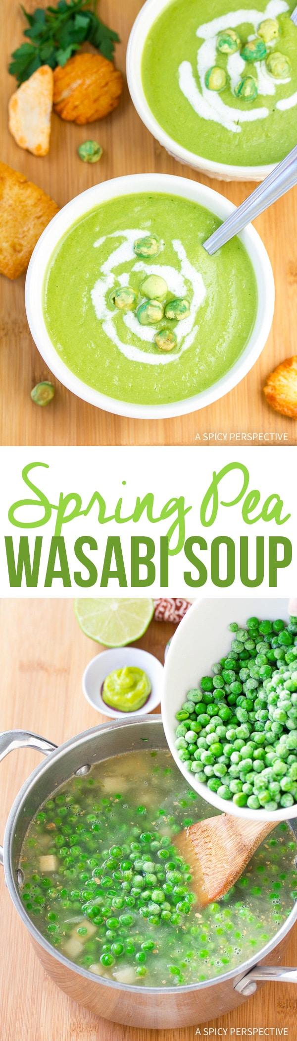 Fresh Spring Pea Wasabi Soup Recipe