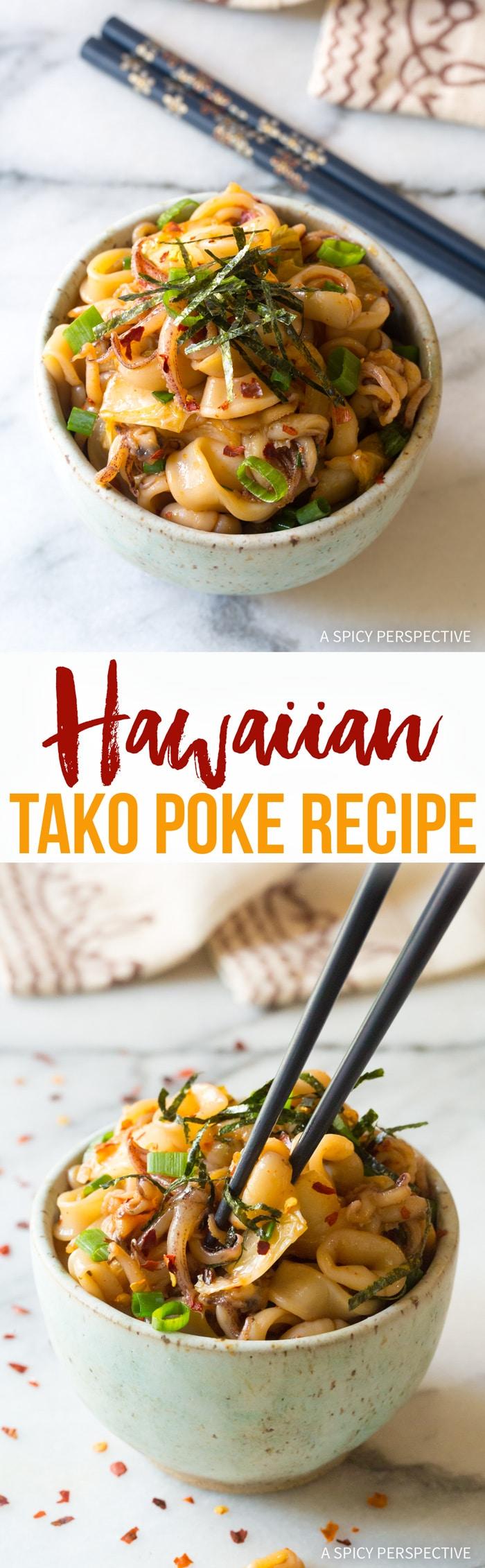 Amazing Hawaiian Tako Poke Recipe (Octopus or Squid!)