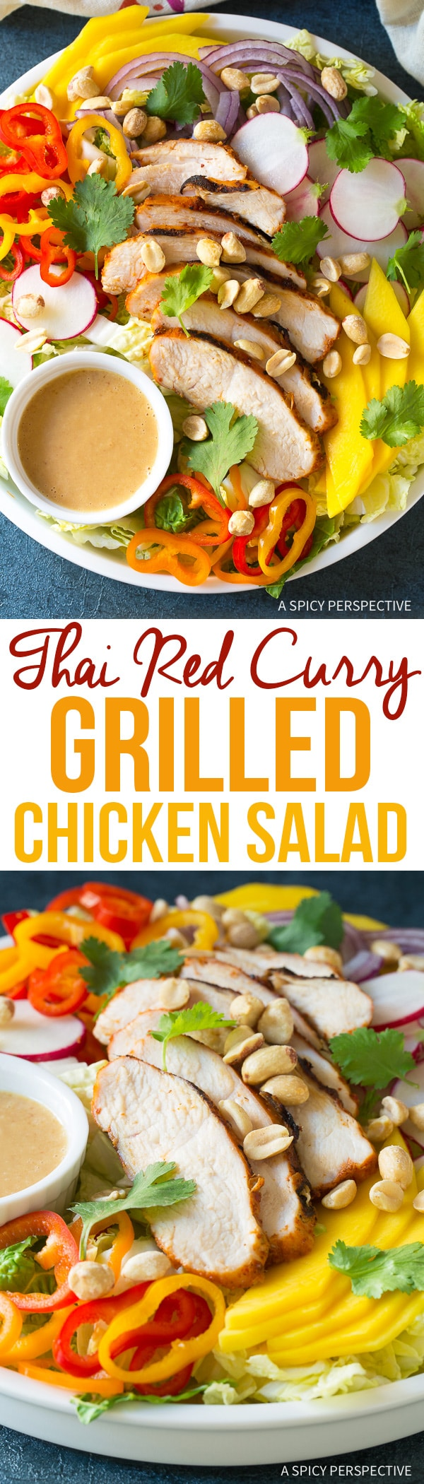 Perfect Thai Red Curry Grilled Chicken Salad Recipe