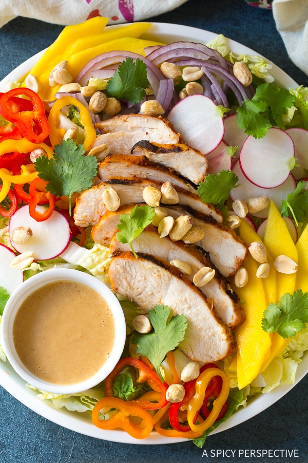 Thai Red Curry Grilled Chicken Salad Recipe