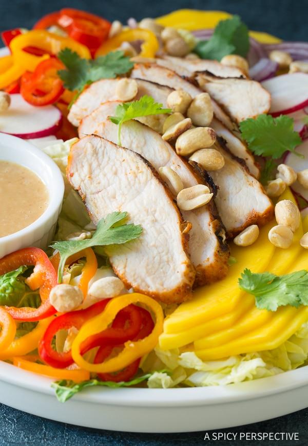 Best Thai Red Curry Grilled Chicken Salad Recipe