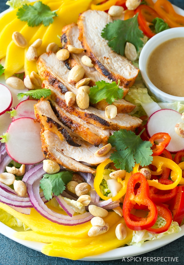 Vibrant Thai Red Curry Grilled Chicken Salad Recipe