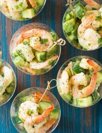 Garlic Lime Roasted Shrimp Salad Recipe for Spring and Summer!