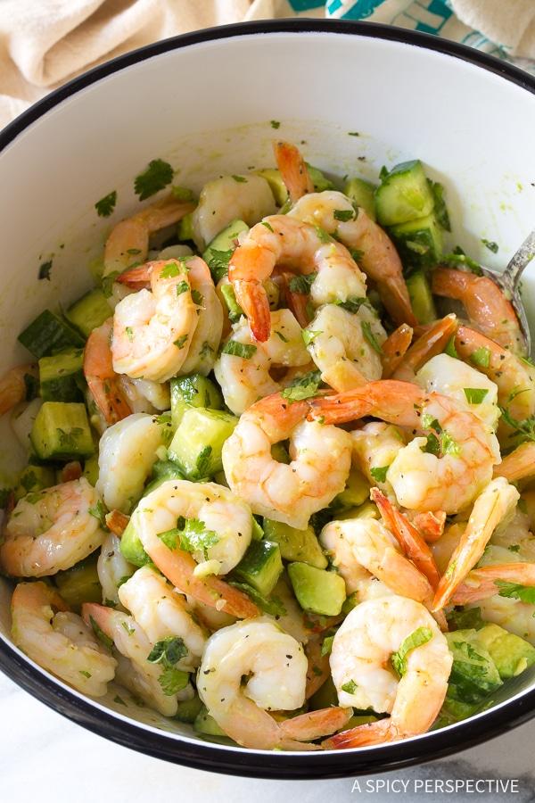 Zesty Garlic Lime Roasted Shrimp Salad Recipe for Spring and Summer!