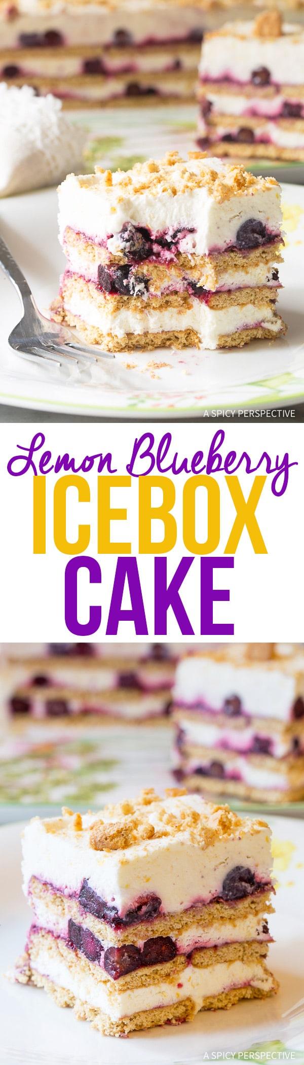 Creamy Lemon Blueberry Icebox Cake Recipe for Summer!