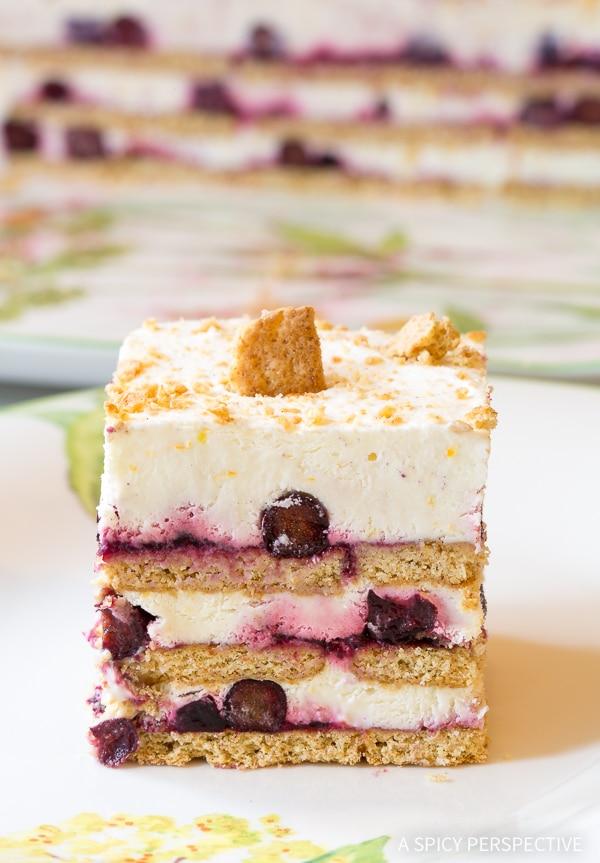 Simple Lemon Blueberry Icebox Cake Recipe for Summer!