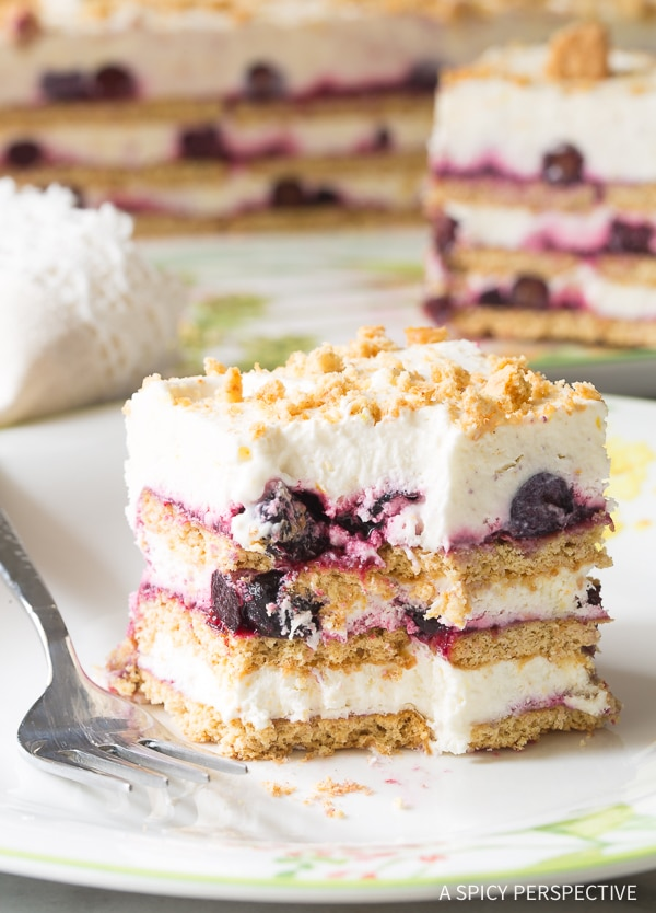 Lemon Blueberry Icebox Cake Recipe for Summer!