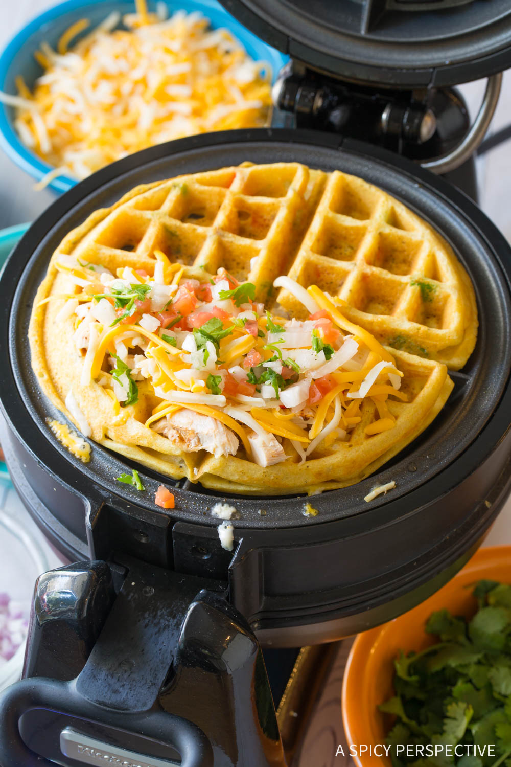 How to Make Waffle Iron Quesadillas Recipe #ASpicyPerspective #onepot