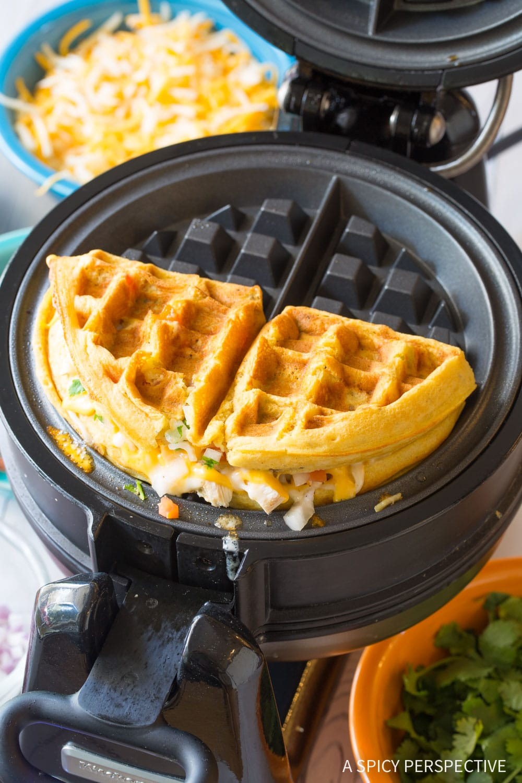 Waffle Iron Quesadillas Recipe #ASpicyPerspective