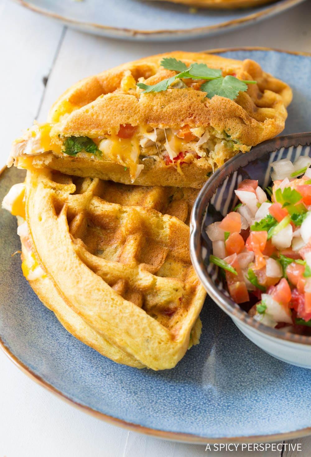 Best Waffle Iron Quesadillas Recipe #ASpicyPerspective #onepot