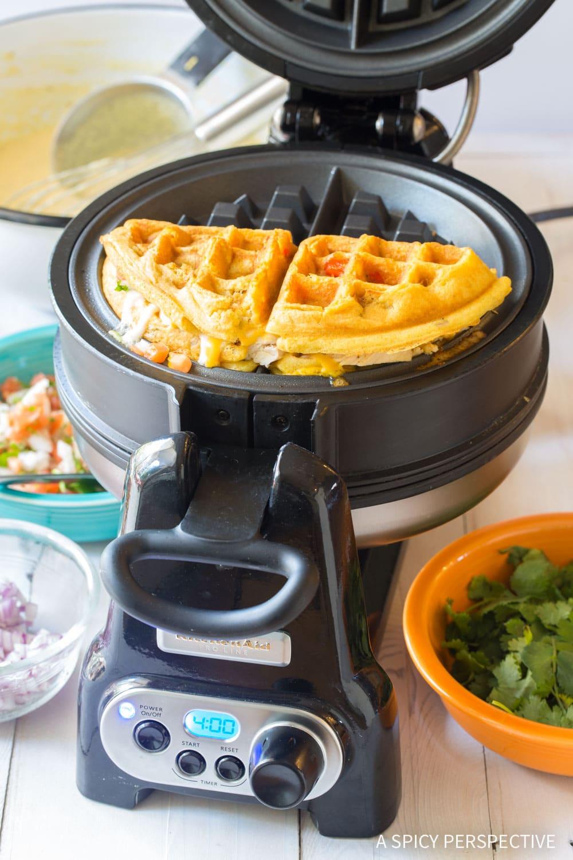 Waffle Iron Quesadillas Recipe #ASpicyPerspective #onepot