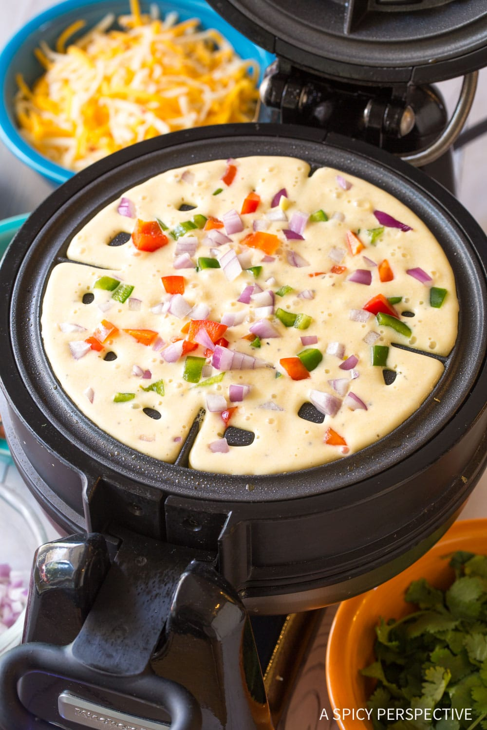 How To: Waffle Iron Quesadillas Recipe #ASpicyPerspective #onepot