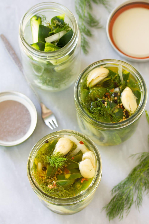 Homemade Pickles #ASpicyPerspective #Pickles #RefrigeratorPickles #HomemadePickles #PickleRecipe #HowtoMakePickles