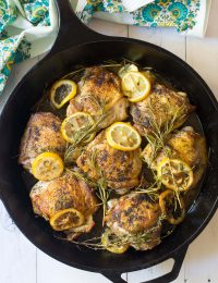 The Perfect Herb Roasted Chicken Thighs Recipe #ASpicyPerspective #Paleo #Ketogenic #Keto #GlutenFree
