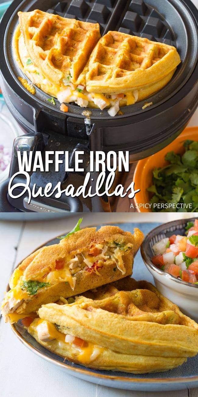 Easy Waffle Iron Quesadillas Recipe