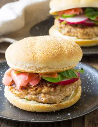 Easy Sesame Chicken Burgers Recipe (Skinny Hamburgers)