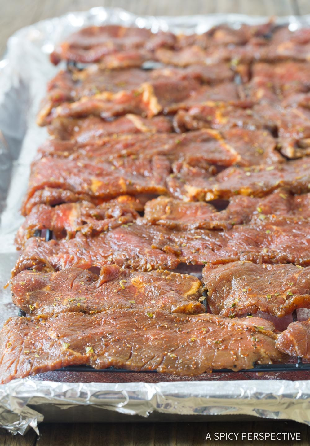 How To: Best Homemade Oven Beef Jerky #Keto #Paleo #ASpicyPerspective