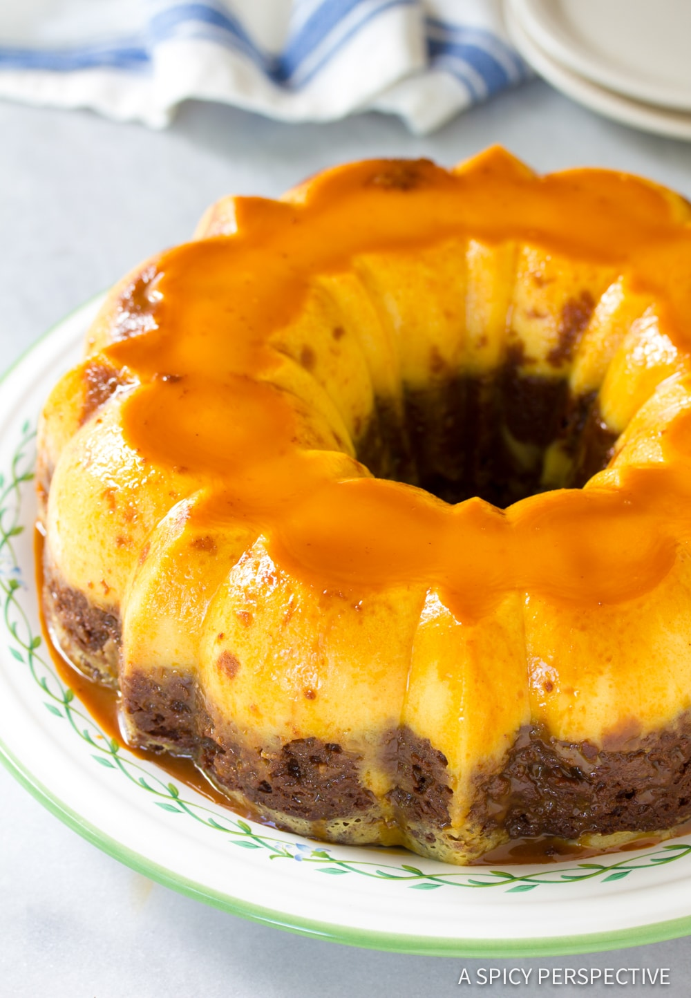 Chocoflan Impossible Cake Recipe #ASpicyPerspective