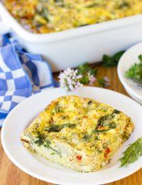 Greek Omelette Casserole Recipe #ASpicyPerspective