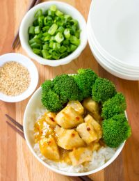 Skinny Chinese Orange Chicken Recipe #ASpicyPerspective