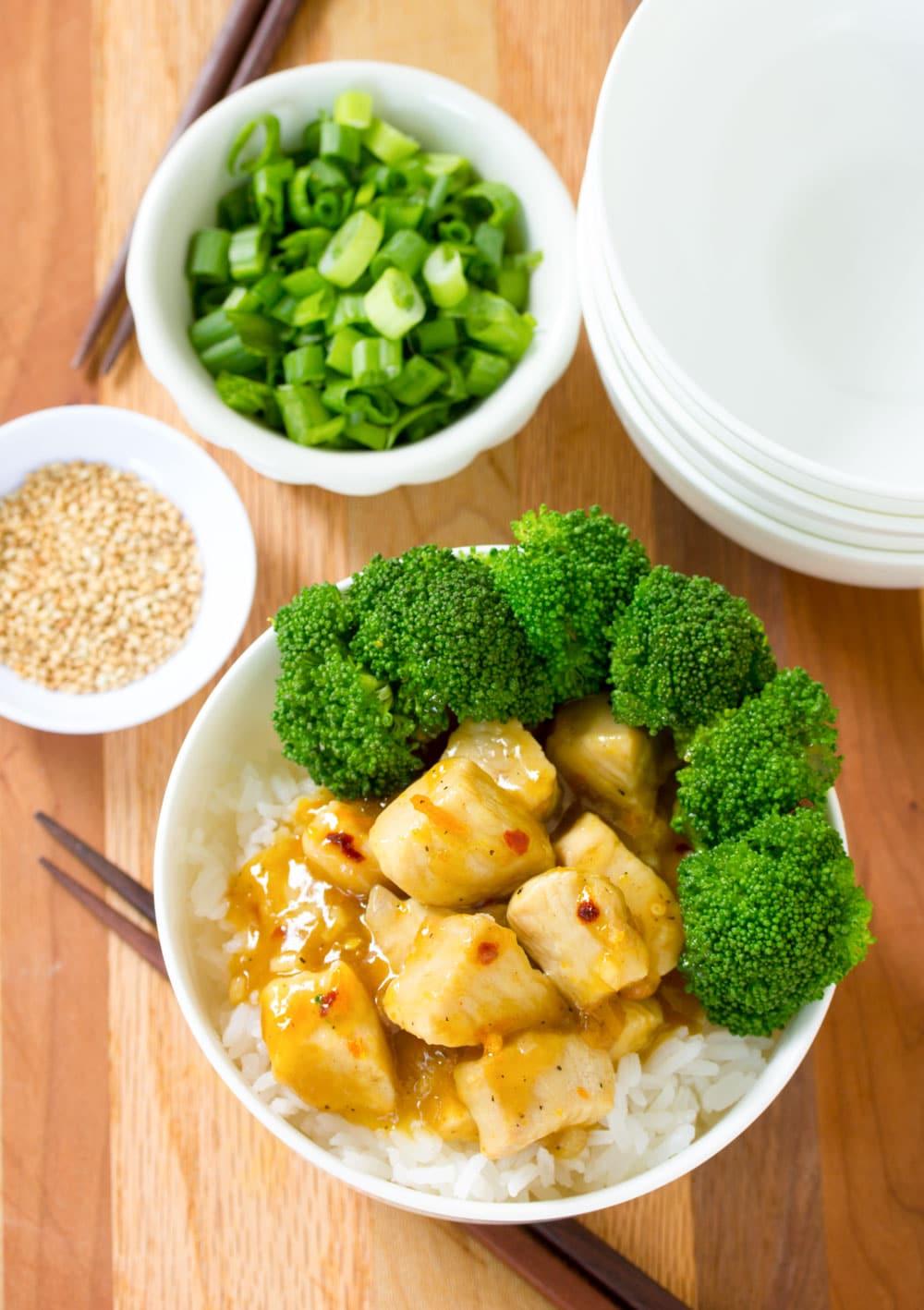 Skinny Chinese Orange Chicken Recipe #ASpicyPerspective