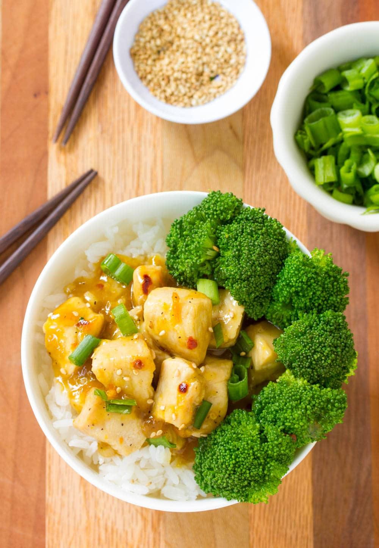Perfect Skinny Chinese Orange Chicken Recipe #ASpicyPerspective