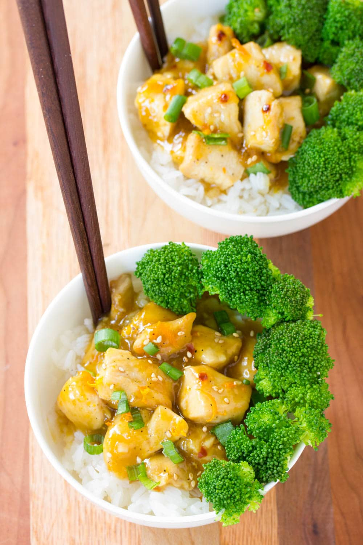 Easy Skinny Chinese Orange Chicken Recipe #ASpicyPerspective
