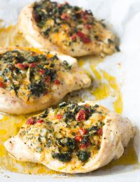 Cheesy Spinach Stuffed Chicken Breasts Recipe #ASpicyPerspective