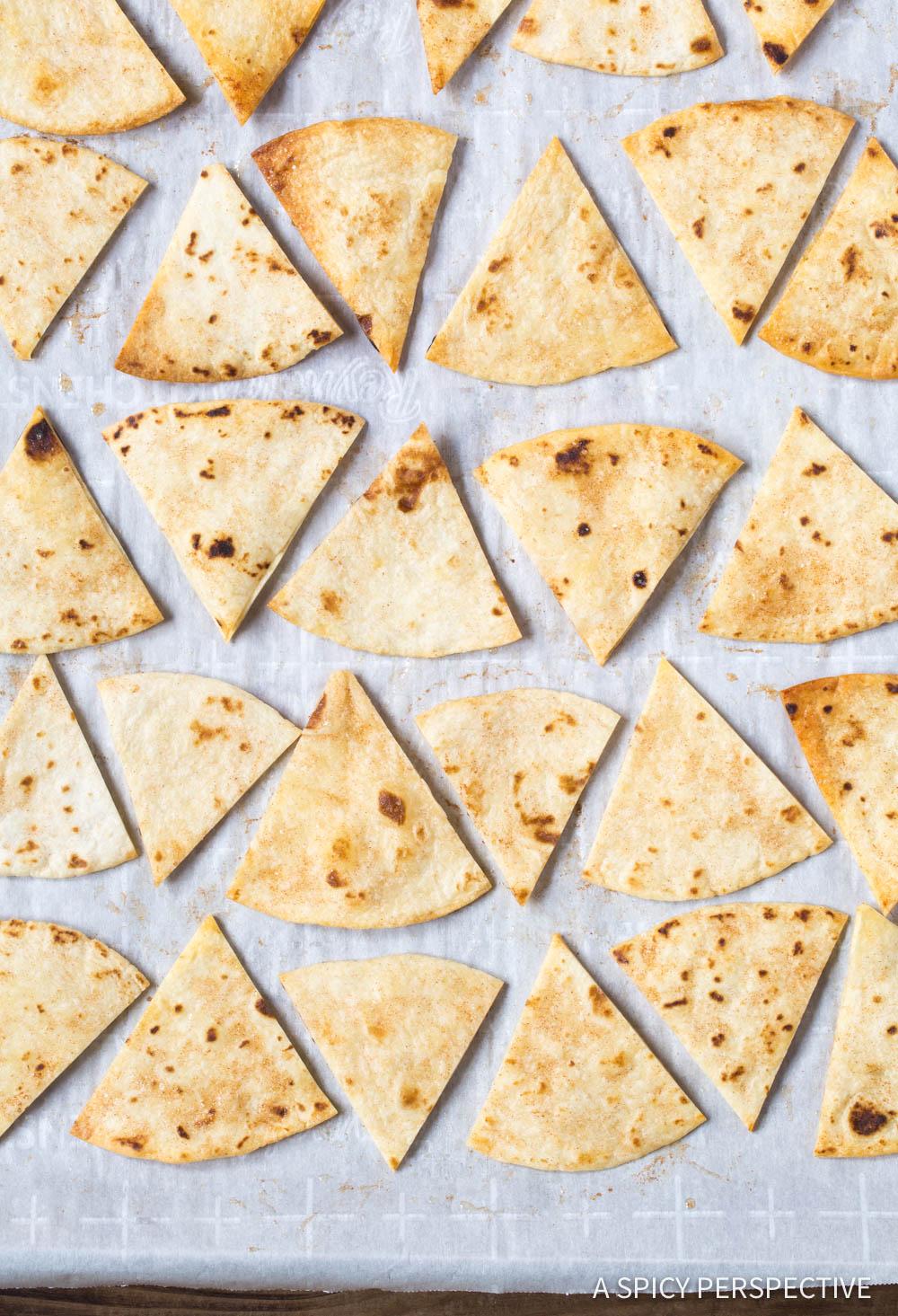 Homemade Cinnamon Chips Recipe #ASpicyPerspective #Halloween #Thanksgiving