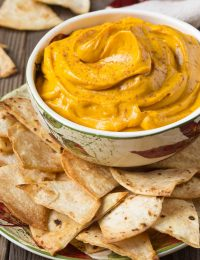 Pumpkin Pie Dip with Cinnamon Chips Recipe #ASpicyPerspective #Halloween #Thanksgiving