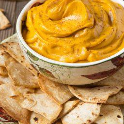Pumpkin Pie Dip with Cinnamon Chips Recipe #ASpicyPerspective #Halloween #Thanksgiving