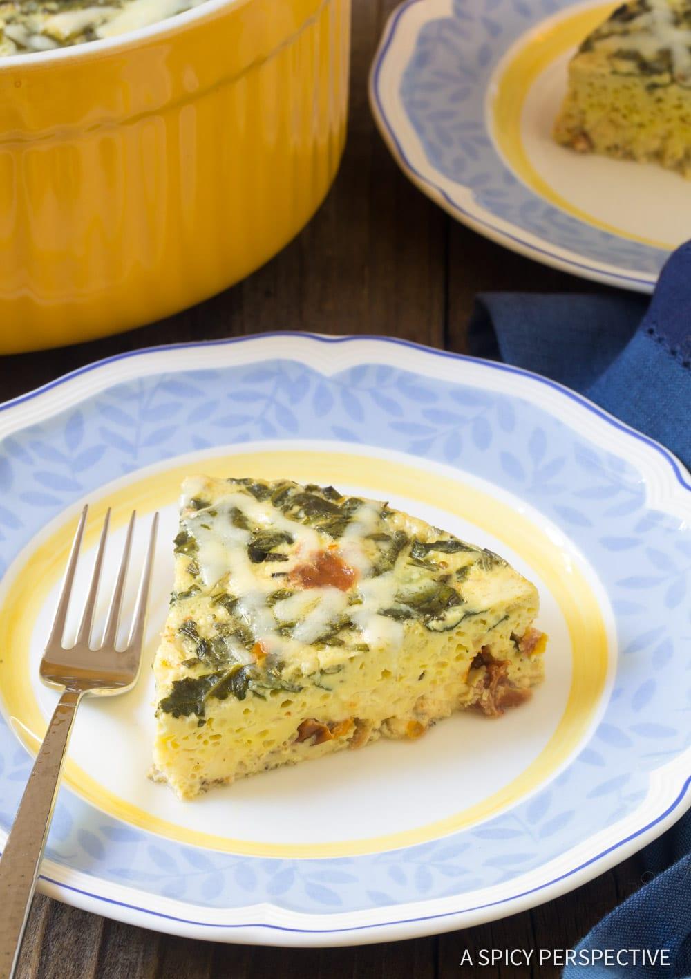 Perfect Instant Pot Keto Crustless Quiche Recipe #ASpicyPerspective #Ketogenic