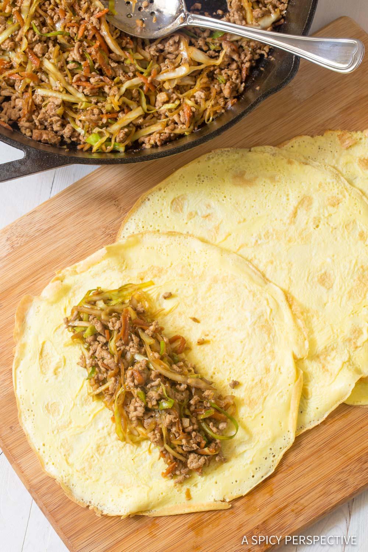 How To: Keto Egg Roll Wrap Recipe #ASpicyPerspective #Ketogenic #Paleo