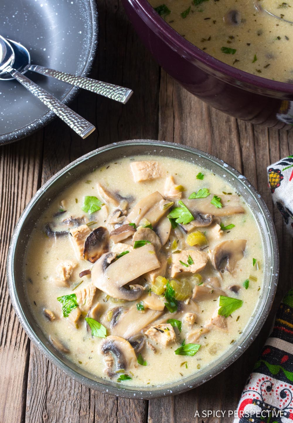KETO Low Carb Creamy Chicken Mushroom Soup