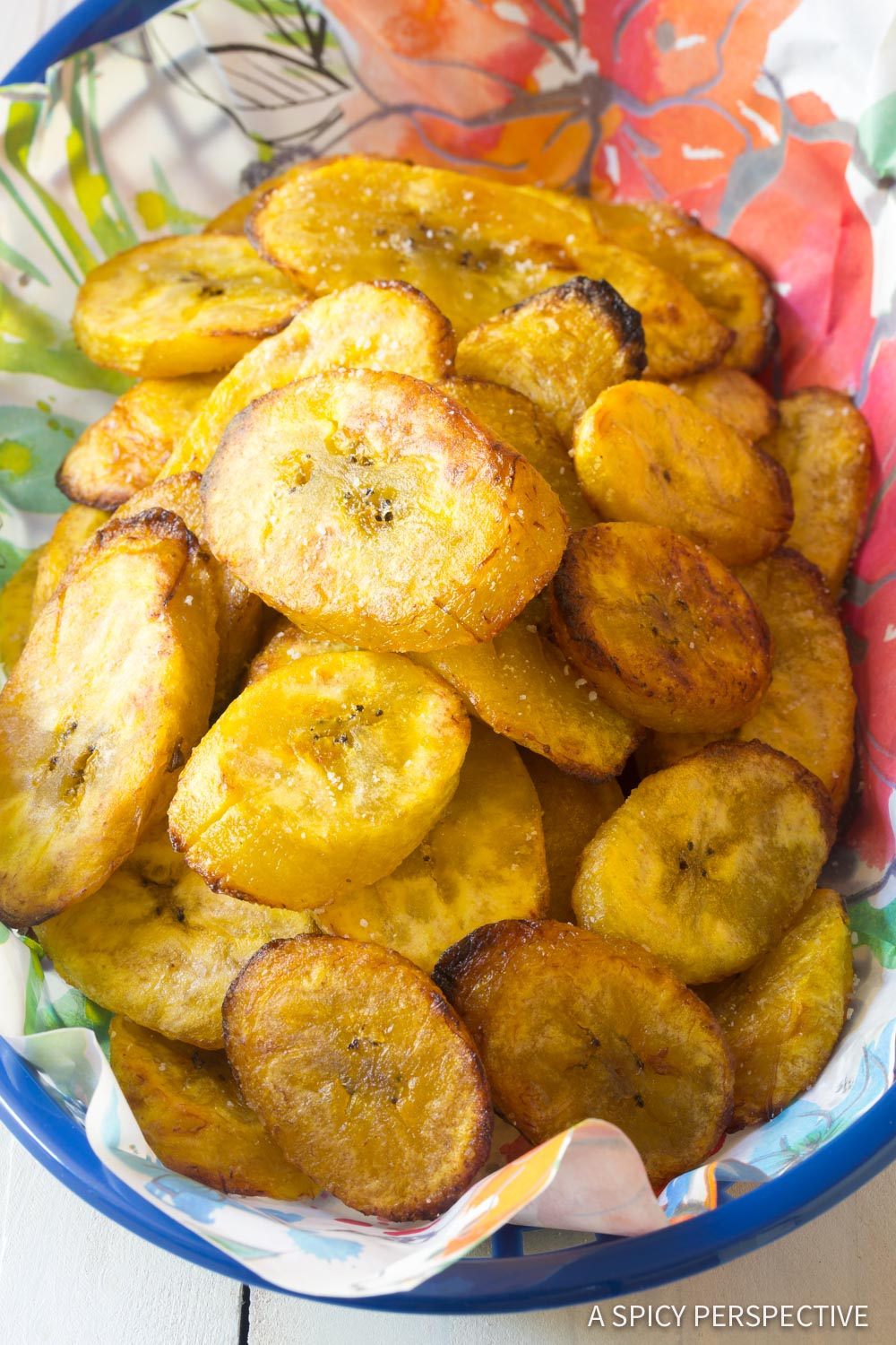 Crispy Perfect Baked Plantains Recipe #ASpicyPerspective #Paleo